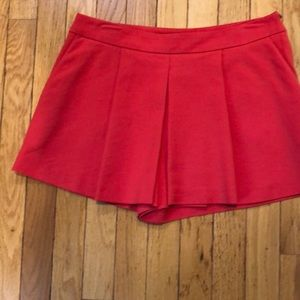 Red Zara shorts